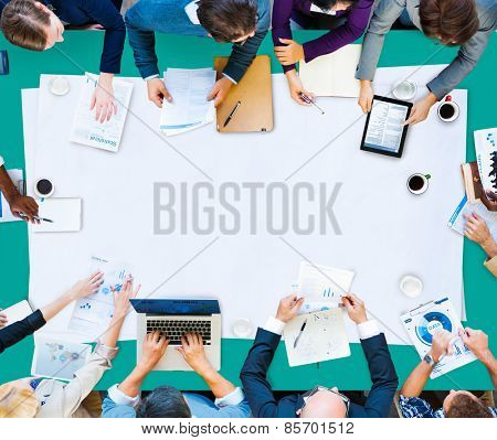 People Meeting Brainstorming Communications Concept