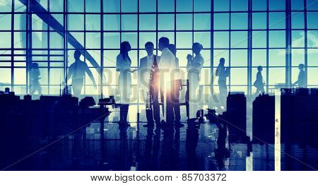 Business People Communication Discussion Cityscape Corporate Concept