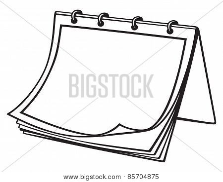 Notebook silhouette