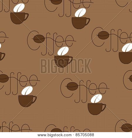 Coffee And Cup Pattern