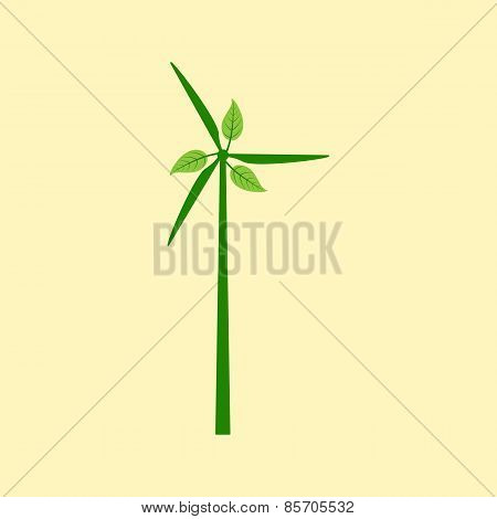 Windmill With Leaves