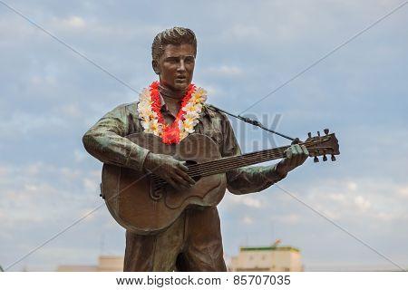 Elvis Statue in Kobe Japan