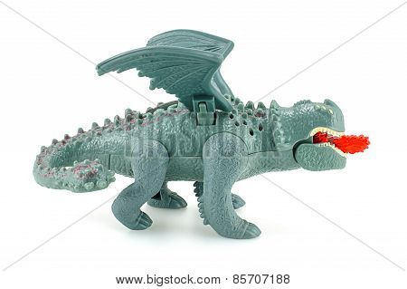 Red Death dragon toy character from How to train your dragon animation film.
