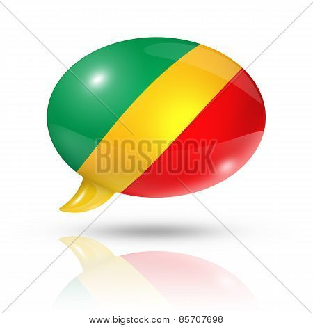 Republic Of The Congo Flag Speech Bubble
