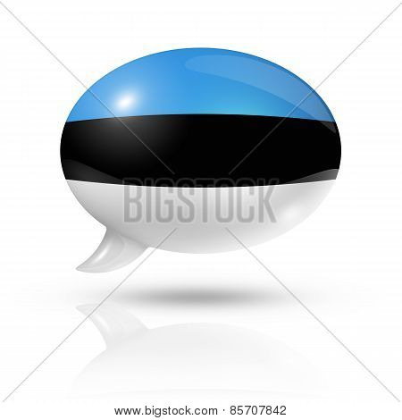 Estonian Flag Speech Bubble