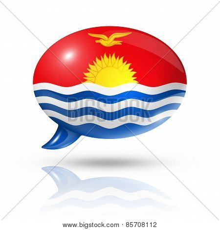 Kiribati Flag Speech Bubble
