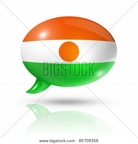 Niger Flag Speech Bubble