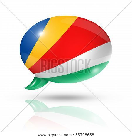 Seychelles Flag Speech Bubble