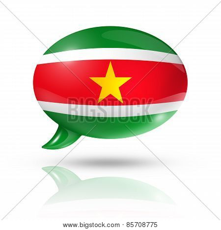 Suriname Flag Speech Bubble