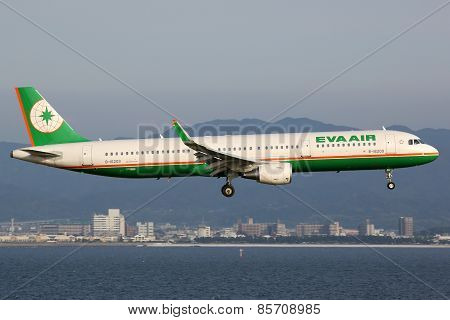 Eva Air Airbus A321 Airplane