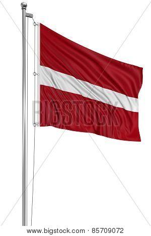 3D Latvian flag