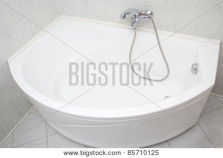 Luxury Bath Tub In White Bathroom