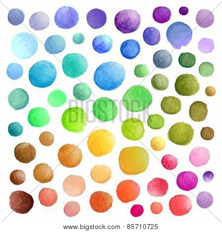 Watercolor vector stains