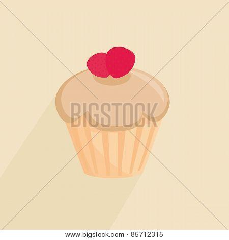 Sweet cupcake vector illustration