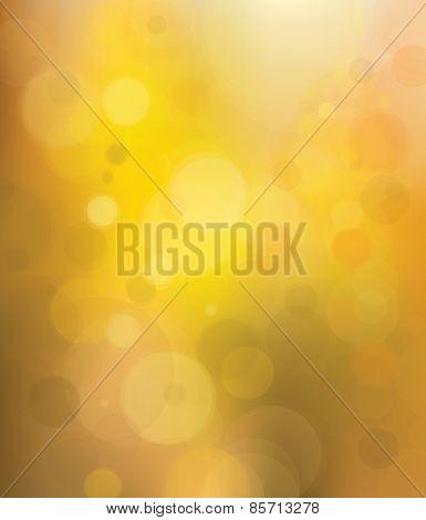 Vector bokeh golden background.
