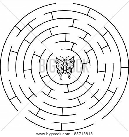 Butterfly labyrinth, maze.