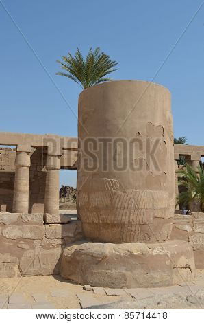 the ruins of the Temple of Karnak in Egypt