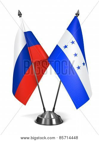 Russia and Honduras - Miniature Flags.