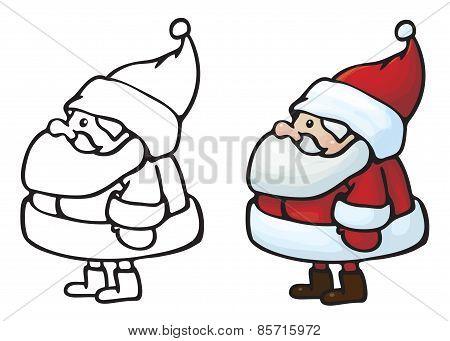 Vector Santa Claus cartoon.