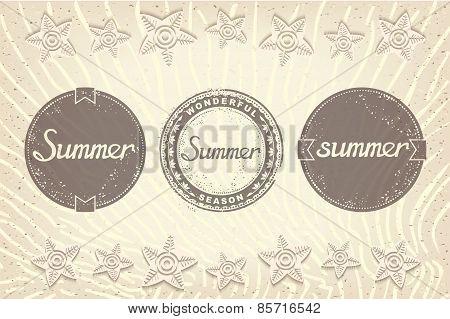 Set of three summer label