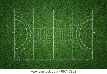 Grass Field Hockey Pitch