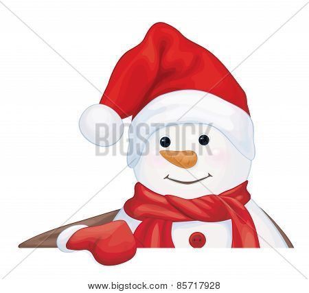 Vector snowman cartoon.