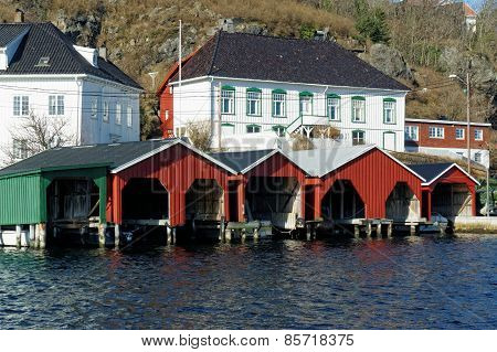 Wooden Garages For Boats, Norway