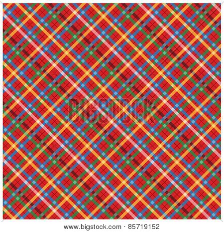 Checkered picnic tablecloth. Vector pattern.