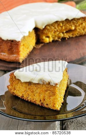 Carrot Pie With Icing