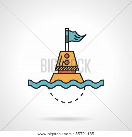 Flat design vector icon for maritime buoy
