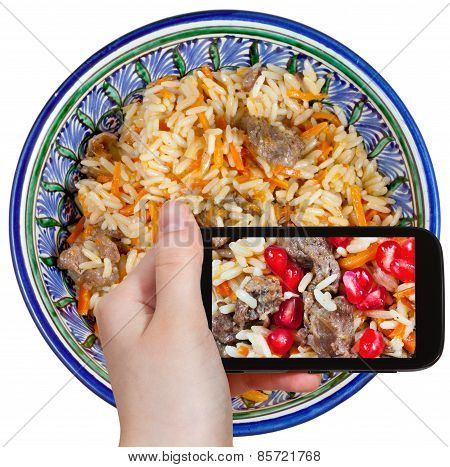 Tourist Photographs Of Asian Plov