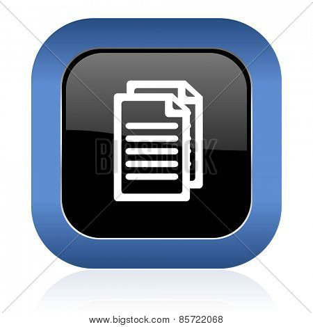 document square glossy icon pages sign