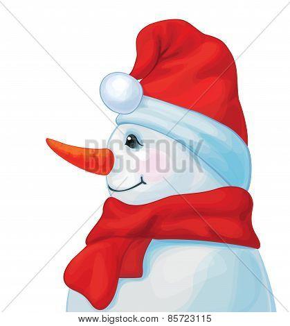 Vector snowman.