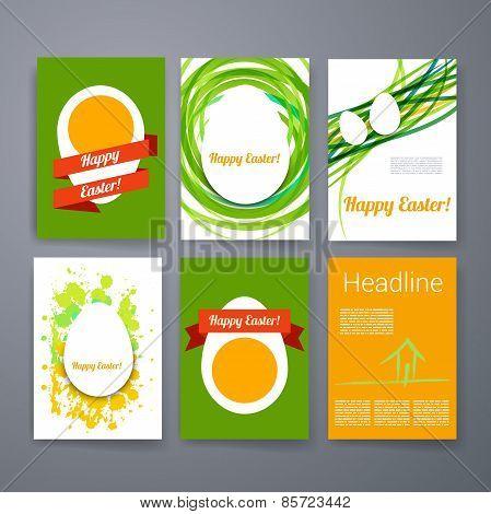 Templates. Set of Flyer, Brochure Design Templates. Easter invitation flyer. Happy Easter.