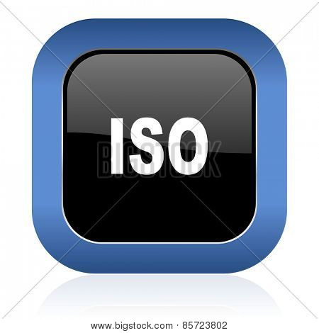 iso square glossy icon