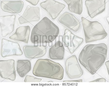 Vector seamless texture white stonewall.