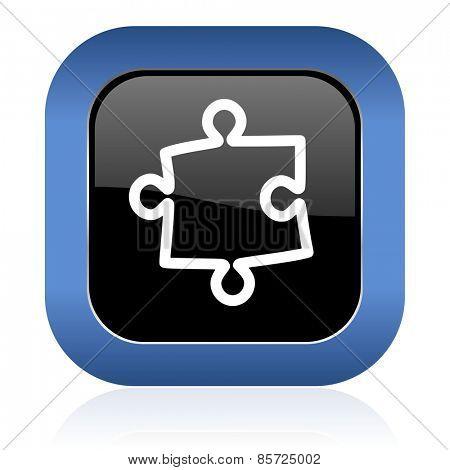 puzzle square glossy icon