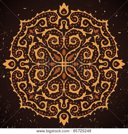 Abstract ornament on grunge background