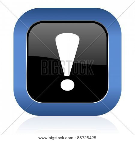 exclamation sign square glossy icon warning sign