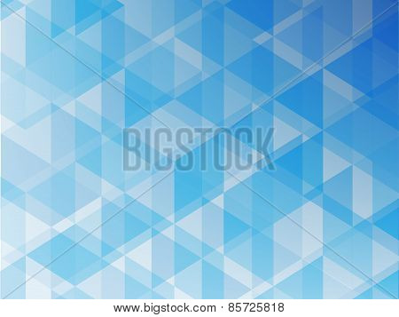 Geometric Abstract  Background Triangle  Of Blue