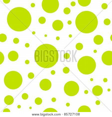 Vintage Retro Seamless Green Circle Pattern