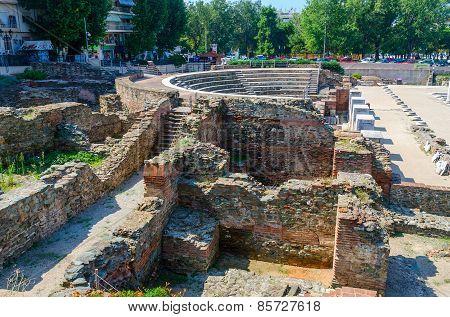 Greece, Thessaloniki, Ruins Of Roman Forum