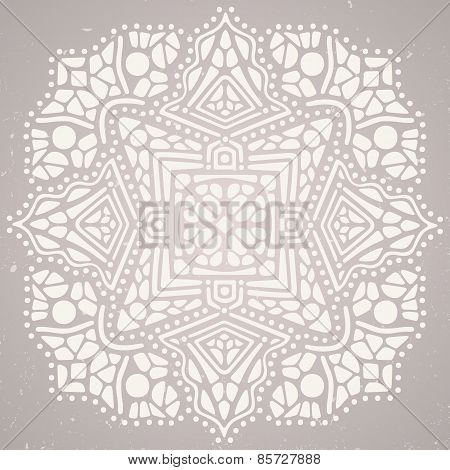 Beautiful abstract ornament on bright background