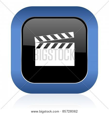 video square glossy icon cinema sign