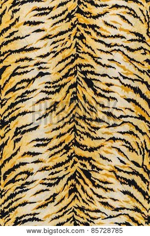 Texture Of Print Fabric Stripes Tiger