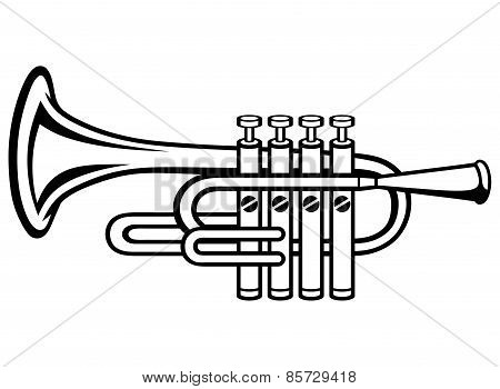 Trumpet, musical instrument