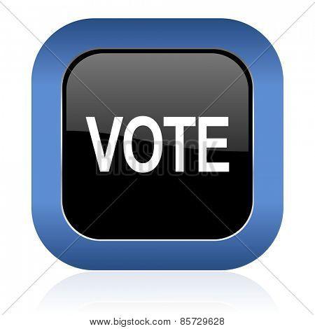 vote square glossy icon