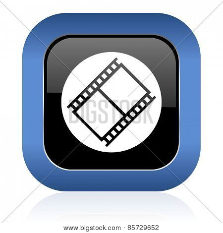 film square glossy icon movie sign cinema symbol