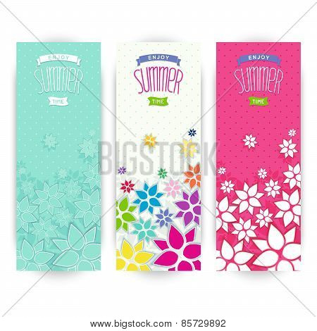Summer vertical banners