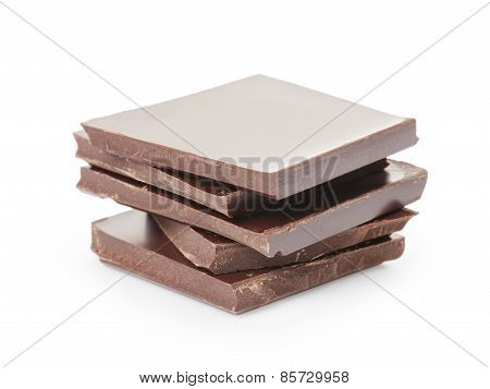 stack of fine milk chocolate